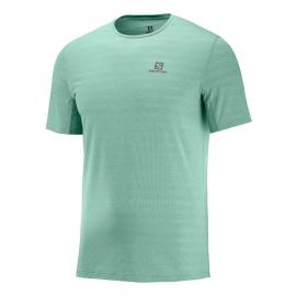 Camiseta trail running Salomon Xa Tee verde hombre