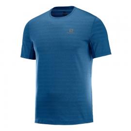 Camiseta trail running Salomon Xa Tee azul hombre