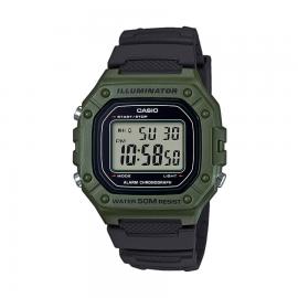 Reloj Casio Digital W-218H-3AVEF verde