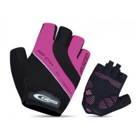 Guantes cortos Ges Race rosa-negro