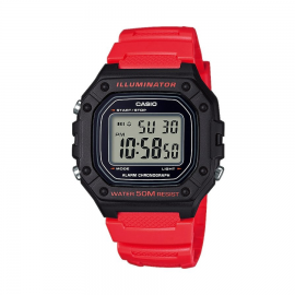 Reloj Casio Digital W-218H-4BVEF rojo