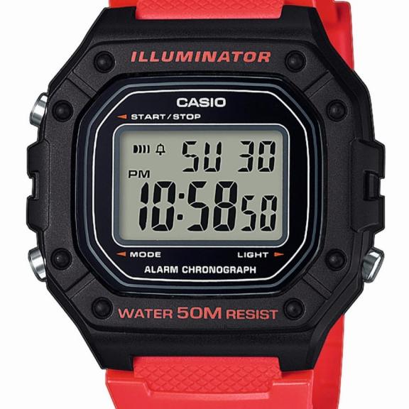 b5a1fdb848b8 Reloj Casio Digital W-218H-4BVEF rojo - Deportes Moya