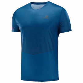 Camiseta trail running Salomon Sense Tee azul hombre