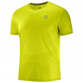 Camiseta running Salomon Sense Tee amarilla hombre