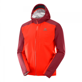 Chaqueta trail running Salomon Bonatti Wp roja