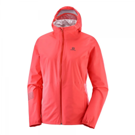 Chaqueta trail running Salomon Lightning Wp coral mujer
