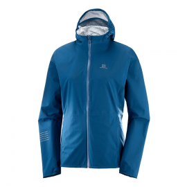 Chaqueta trail running Salomon Lightning Wp azul mujer
