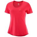 Camiseta trail running Salomon Agile Ss Tee rosa mujer
