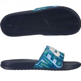 Chancla Nike Benassi JDI Print azul hombre