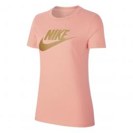 Camiseta Nike Essential Icon Futura rosa mujer