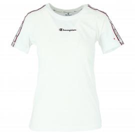 Camiseta Champion 111910 Crewnewck blanca mujer