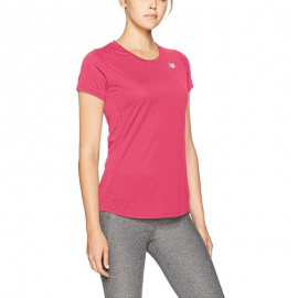 Camiseta running New Balance Accelerate Sleeve fucsia mujer