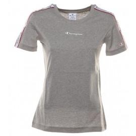 Camiseta Champion 111910 Crewnewck gris mujer