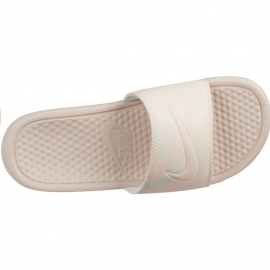 "Chancla Nike Benassi ""Just Do It.""  crema mujer"