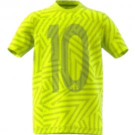 Camiseta adidas Messi Icon amarilla niño