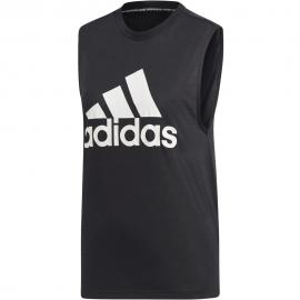 Camiseta adidas MH Bos Tank negra/blanca mujer