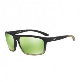 Gafas Arnette Burnout negro lentes verde espejo