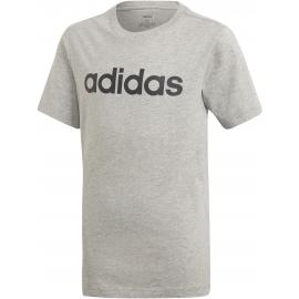 Camiseta adidas Essentials Linear Logo gris niño