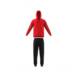 Chándal adidas MTS Linear FT Hood rojo/negro hombre