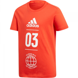 Camiseta adidas YB SID roja/blanca niño