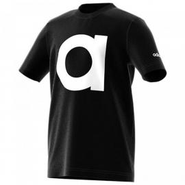 Camiseta adidas YB Essential Brand negra/blanca niño