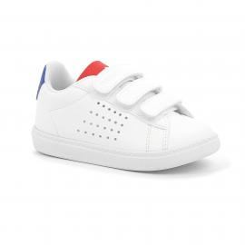 Zapatillas Le Coq Sportif Courtset INF blanca/azul/roja bebé
