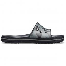 Chanclas Crocs Crocband III Seasnl Graphc Slide U gris/negra