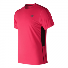 Camiseta running New Balance Accelerate rosa hombre
