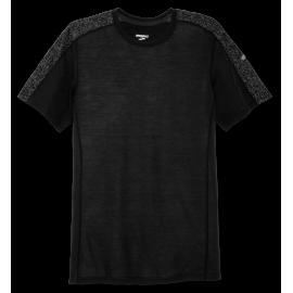 Camiseta running Brooks Distance negra hombre