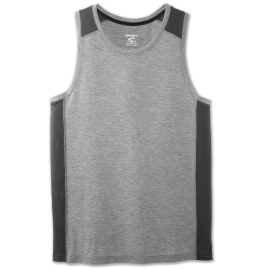 Camiseta running Brooks Distance Tank gris hombre