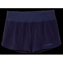 "Pantalón running Brooks Chaser 5"" azul mujer"