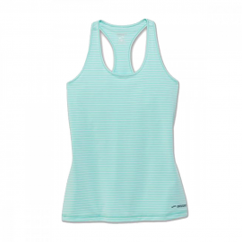 Camiseta tirantes Brooks Pick-Up verde mujer