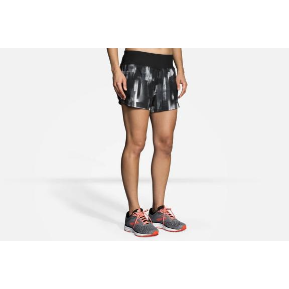 "Pantalón running Brooks Chaser 5"" negro/blanco/gris mujer"