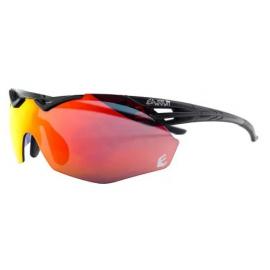 Gafas Eassun Avalon negro mate lentes rojo revo