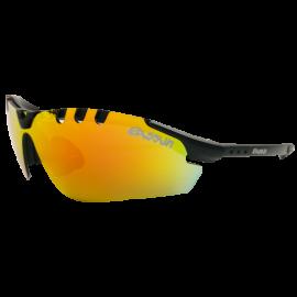 Gafas Eassun X-Light Sport negro mate  lente rojo revo