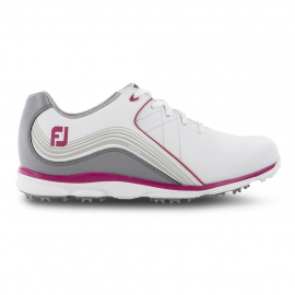 Zapatos golf FootJoy WN Pro SL blanco/gris/fucsia mujer