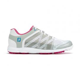 Zapatos golf FootJoy WN Sport SL gris/fucsia mujer