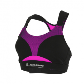 Top natación Aquasphere Kalua negro/rosa mujer