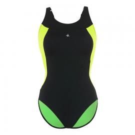 Bañador Aquasphere Paola negro/verde mujer