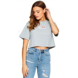 Camiseta Ellesse Fireball Cropped gris mujer
