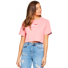 Camiseta Ellesse Fireball Cropped rosa mujer