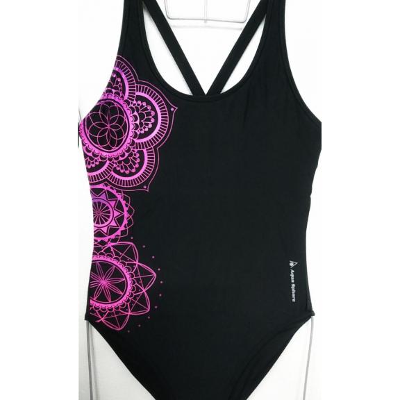 509d416e Bañador AquaSphere Mandala negro/morado mujer - Deportes Moya