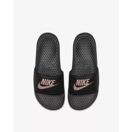 Chanclas Nike Benassi JUST DO IT negro/rosa mujer