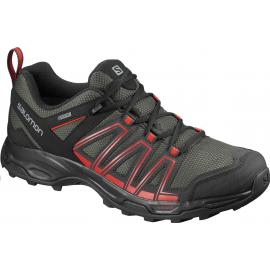 Zapatillas trekking Salomon Eastwood GTX gris rojo hombre