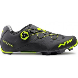 Zapatillas Northwave Ghost Xcm negro-amarillo fluo
