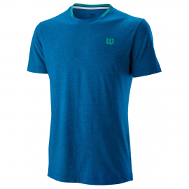 Camiseta tenis/padel Wilson M Competition Flecked royal homb