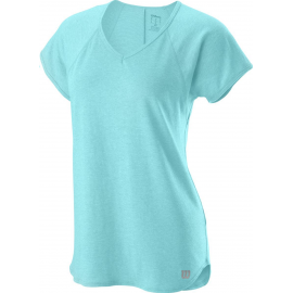 Camiseta tenis/padel Wilson Training V-Neck celeste mujer