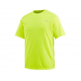 Camiseta running Saucony Hydralite amarilla hombre