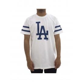 Camiseta New Era MLB Team Logo Dodgers blanca hombre