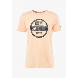 Camiseta New Era NE ESTL Visor Sticker naranja hombre